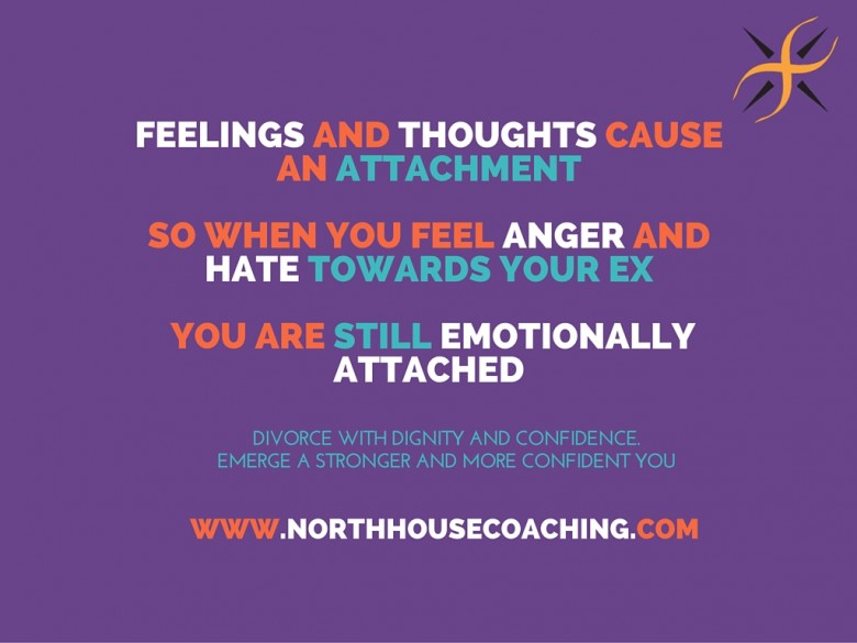 Feelings and Thoughts cause attachments, so when you feel anger and hate towards someone, you are emotion